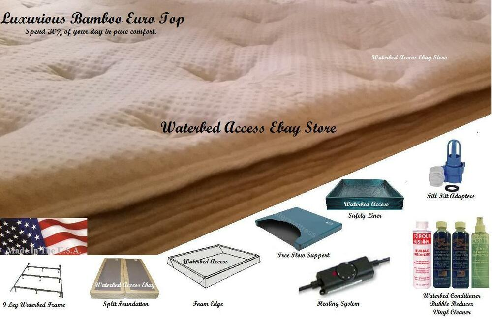 Softside Waterbed W Luxurious Bamboo Euro Top Amp Free Flow