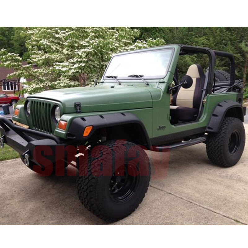 """1999 Jeep Wrangler Fenders: For 97-06 Jeep Wrangler TJ 7"""" Wide POCKET Style Protector"""