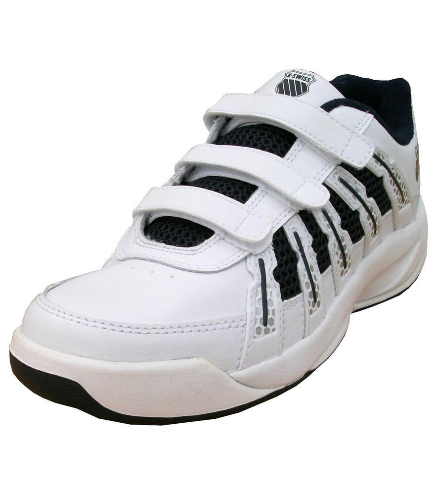 k swiss boys optim ii leather tennis velcro