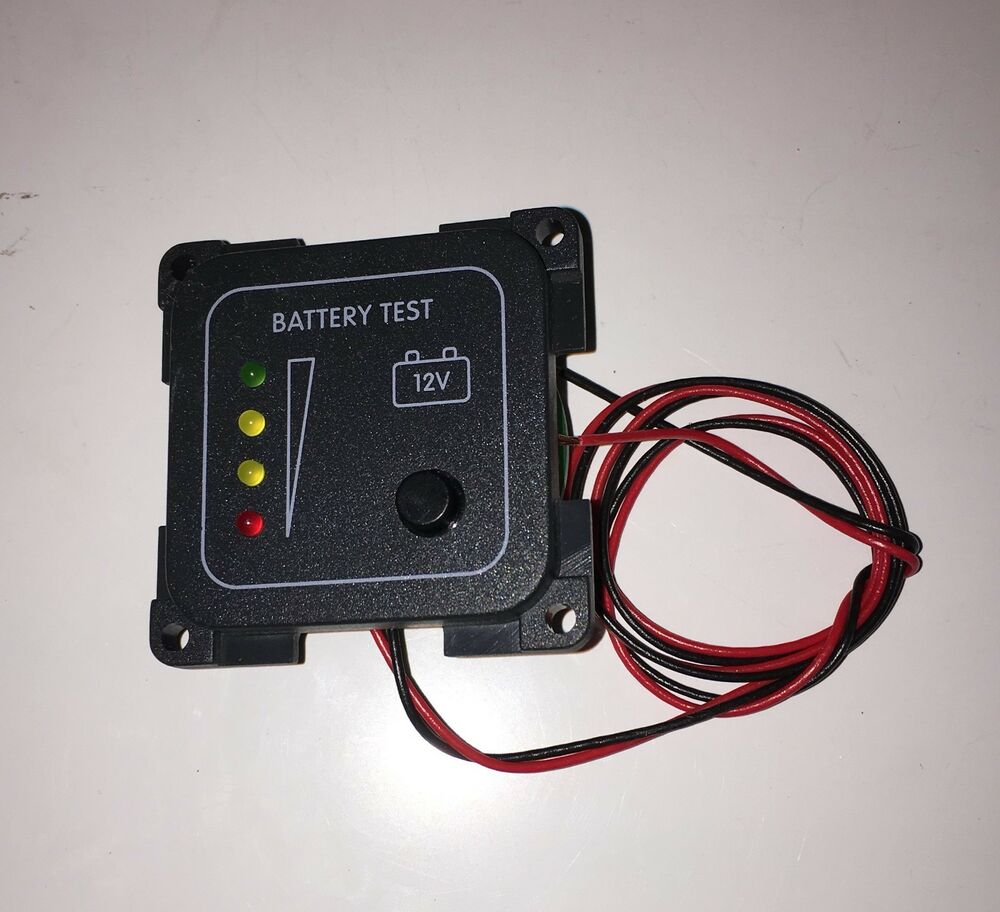 Rv Battery Voltage Gauge : Caravan motorhome boat battery voltage meter led