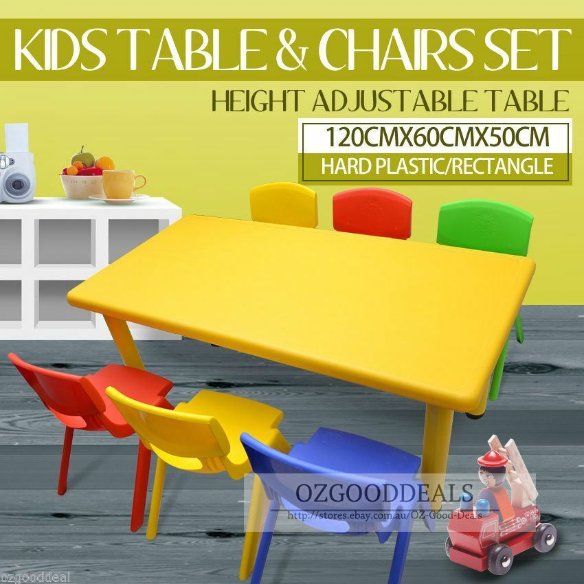 Kids Toddler Children Activity Table and 6 Chair