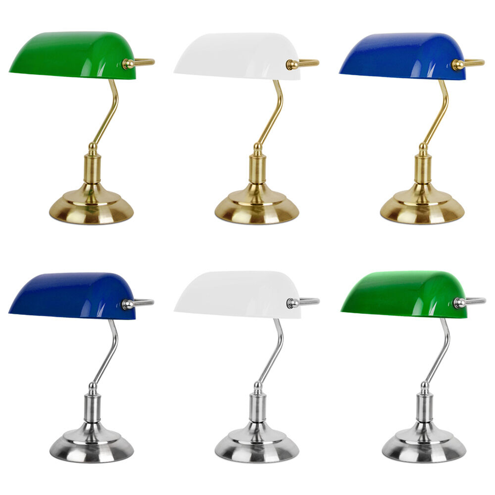 28 bankers lamp office desk table antique brass fluorescent