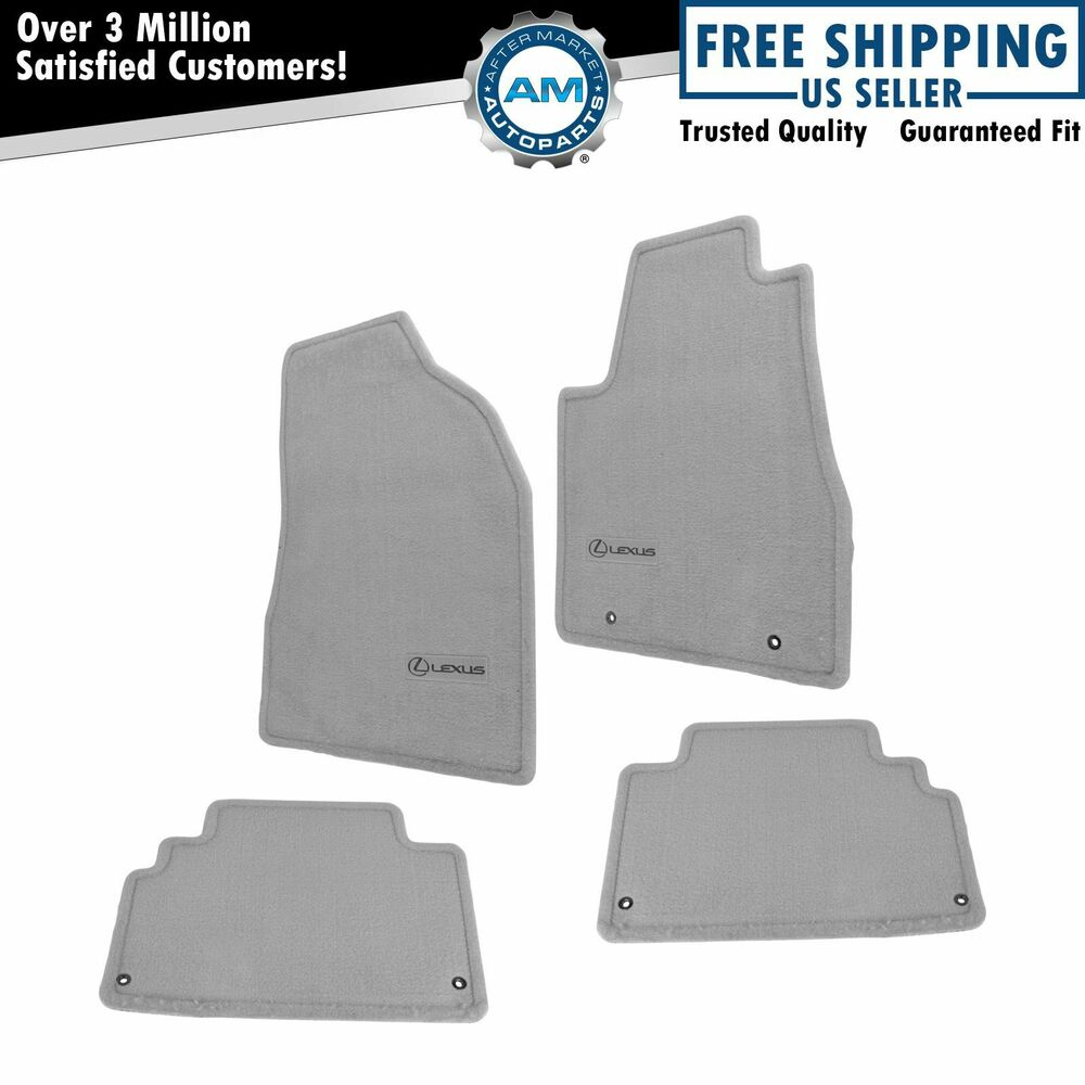 oem floor mat carpet set of 4 lh rh front rear light gray. Black Bedroom Furniture Sets. Home Design Ideas