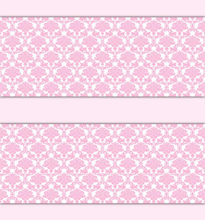 Baby Girl Wallpaper: Pink Damask Wallpaper Border Wall Decals Baby Girl