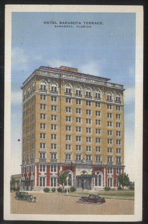 1929 postcard sarasota fl florida hotel sarasota terrace for Terrace building