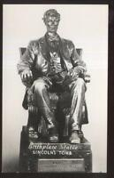 RP Postcard SPRINGFIELD,IL  Lincoln's Tomb Sculpture Titled BIRTHPLACE STATUE