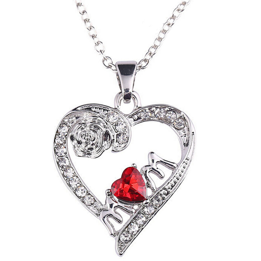 Charm Mother's Day Gift for Mom Friend Red Diamond Heart ...