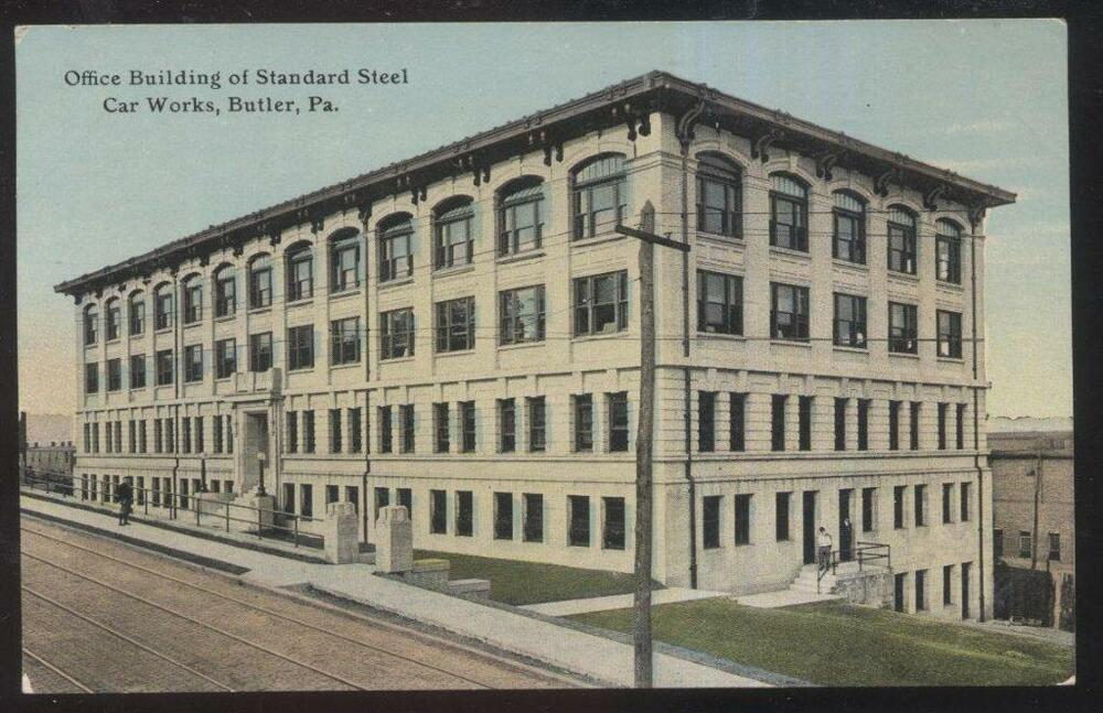 Postcard Butler Pennsylvania Pa Standard Steel Car Works