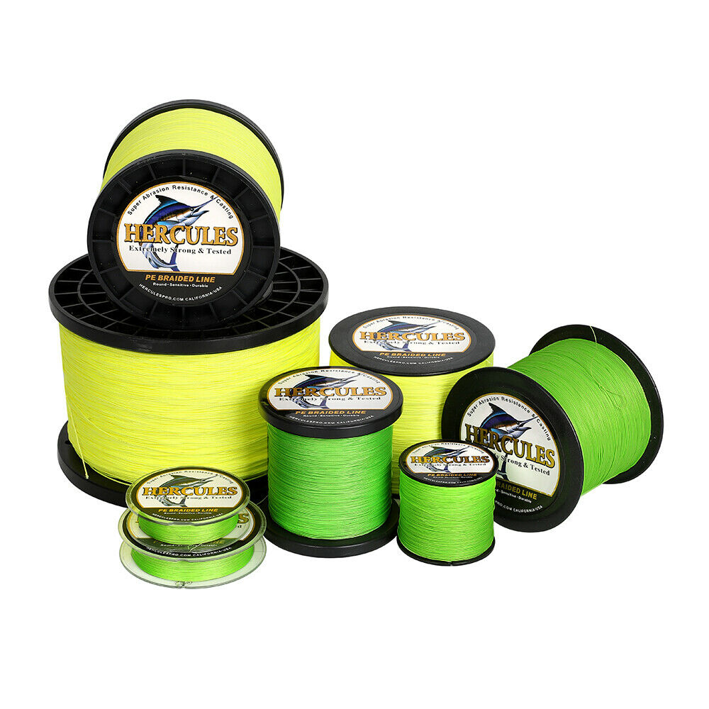100 300 500 1000m spectra pe dyneema braid fishing line for Fluorescent fishing line