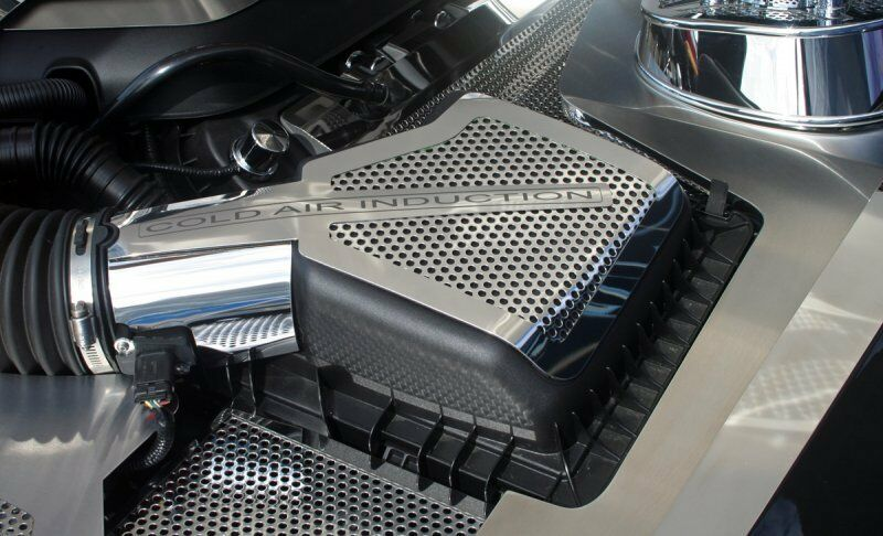 2011 2014 Mustang Gt Perforated Polished Stainless Steel 2