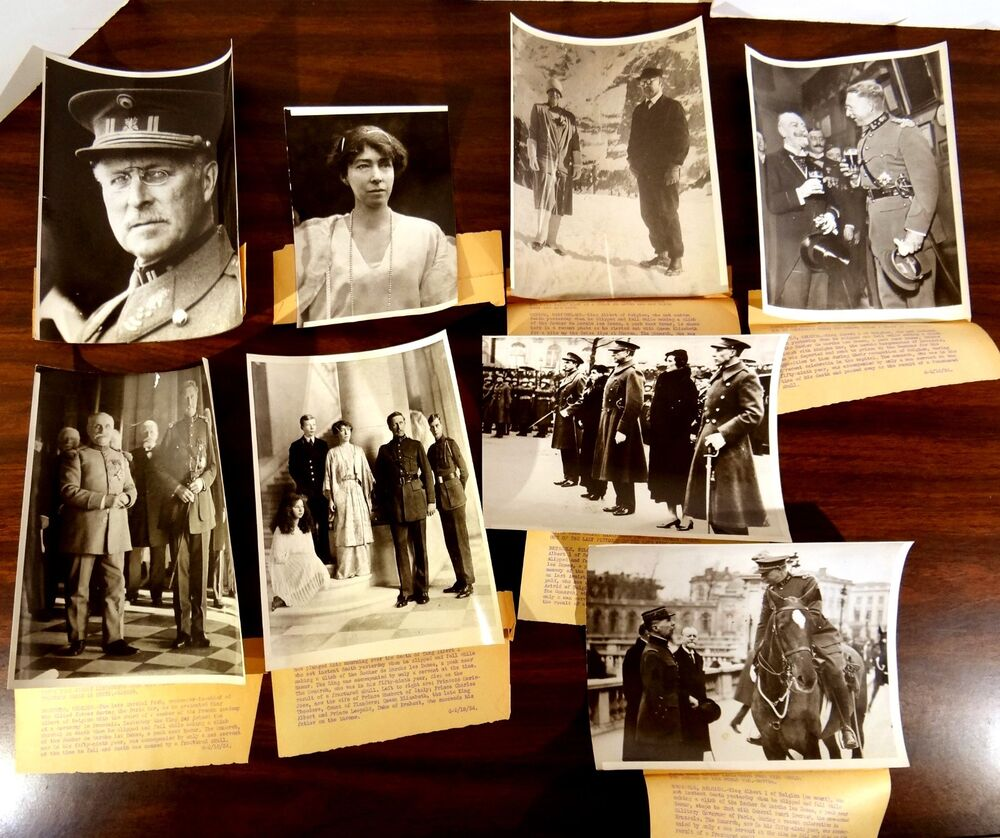 8 Press Photos 1934 Royalty DEATH of KING ALBERT QUEEN ELIZABETH