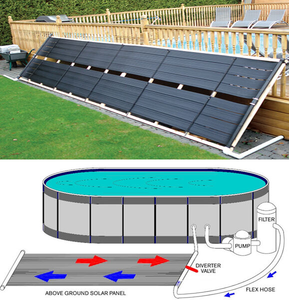 48 x 20 39 inground above ground pool solar panel pool