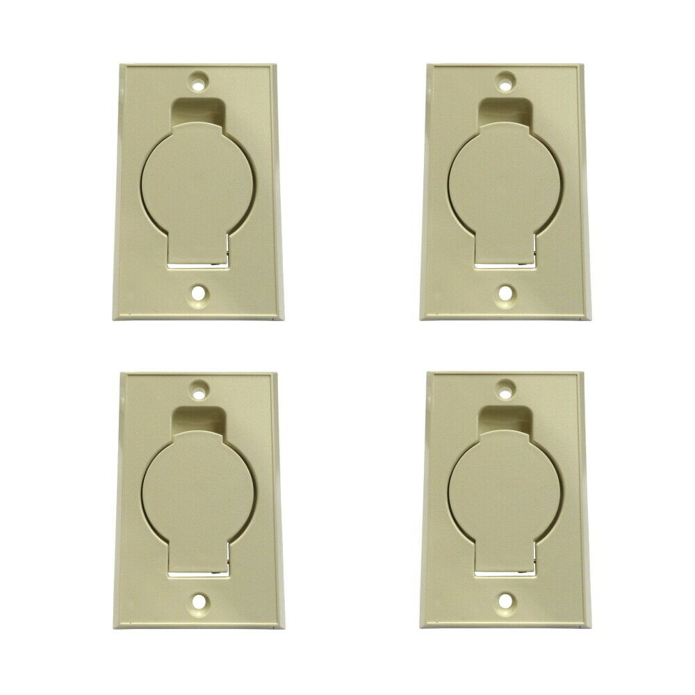 4 Central Vacuum Wall Hose Inlet Almond Beige For Nutone