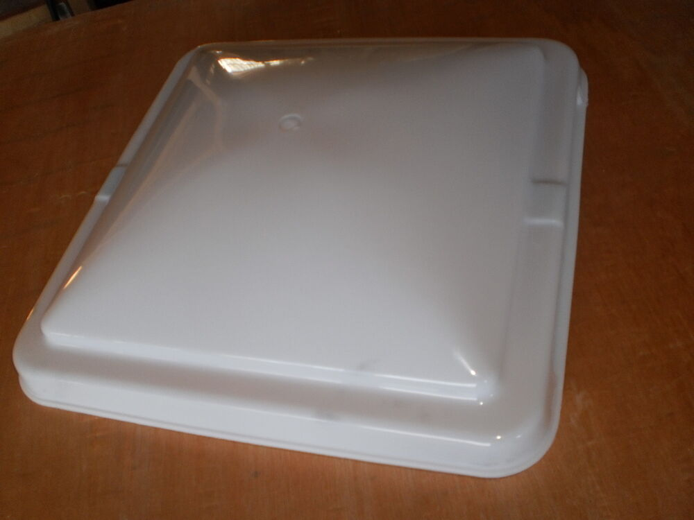 Replacement roof vent cover rv trailer camper 14x14 cargo plastic lid ebay for How to replace rv bathroom vent cover