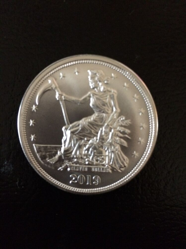 2019 Silver Slayed Dollar Zombucks Bullion Z50 1 Oz Seated