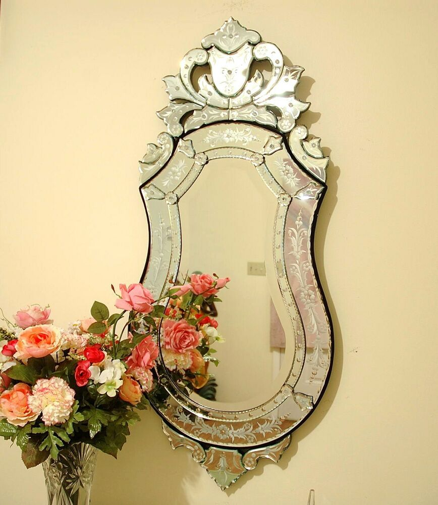 47 x 21 clear venetian art deco mirror wall decor ebay for Art mirrors for walls