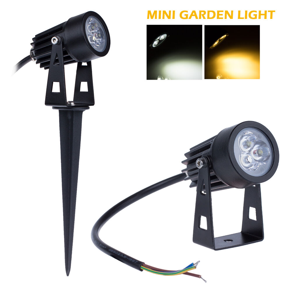 mini 3w led spot light outdoor garden patio landscape led spotlight lamp 85 265v ebay. Black Bedroom Furniture Sets. Home Design Ideas