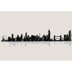 London Cityscape Vinyl Wall Accent Decal