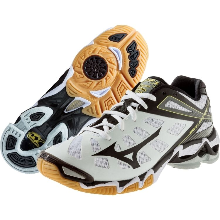 a2cf70d556d Details about Mizuno Wave Lightning RX3 Men s White Black Volleyball Shoes  430169.0090 NEW