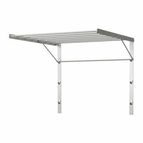 ikea stainless steel wall mounted laundry drying rack silver new ebay. Black Bedroom Furniture Sets. Home Design Ideas