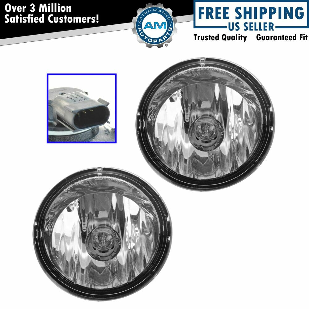 OEM 15258697 Fog Driving Daytime Running Light Lamp Pair ...