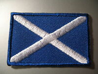 SCOTTISH Flag Small Iron On/ Sew On Patch Badge SCOTLAND St Saint Andrew's Cross
