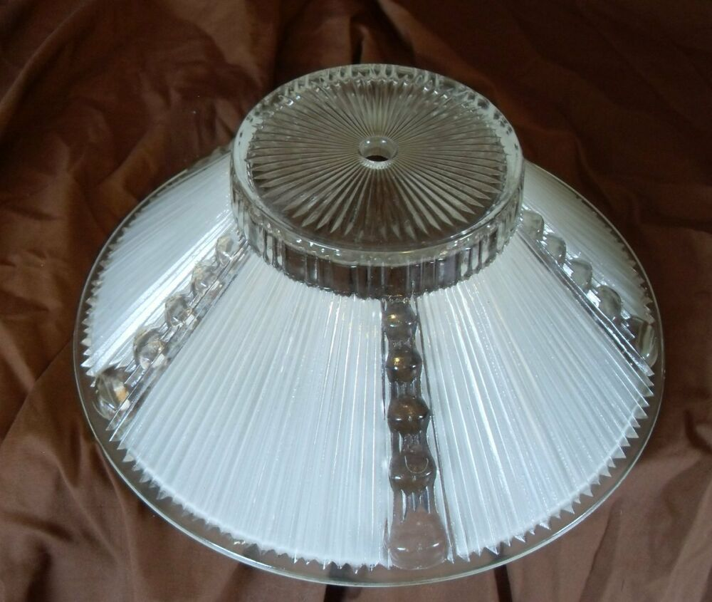 Art Deco Glass Ceiling Globe Light 10 1 2 Inches Off