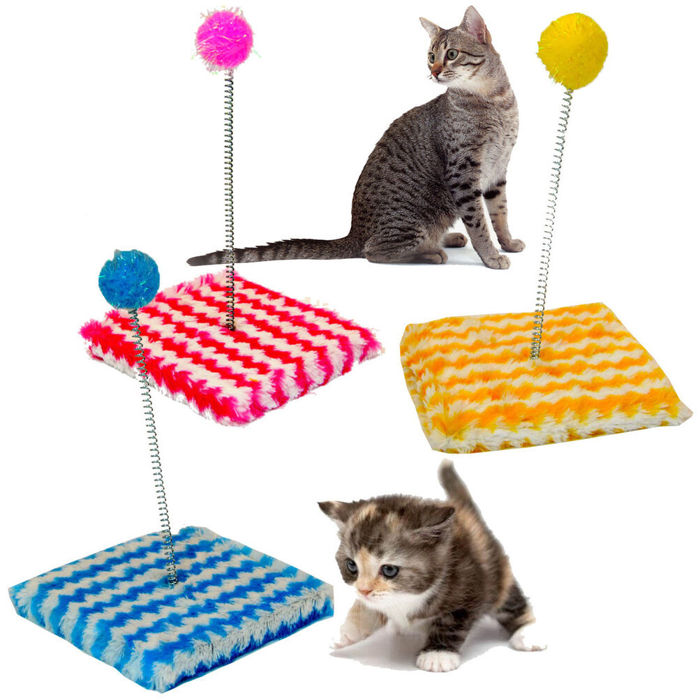 cats play soft toy scratching sway pole scratch post. Black Bedroom Furniture Sets. Home Design Ideas