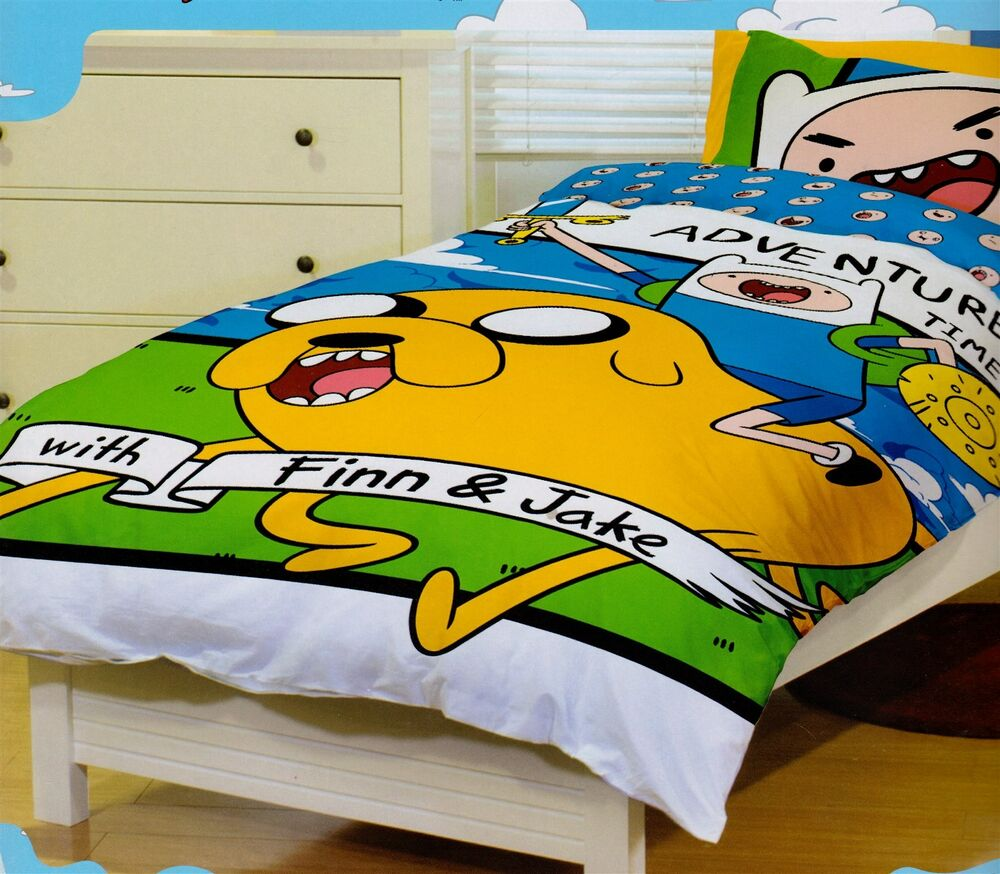 Adventure time jake finn queen size quilt cover set new ebay for Jake quilted bedding