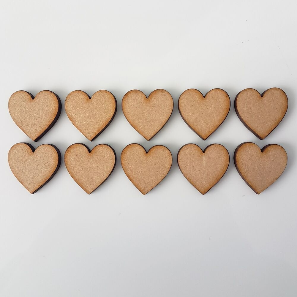 Wooden mdf hearts shape 3mm mdf embellishments craft blank for Decoration or embellishment crossword