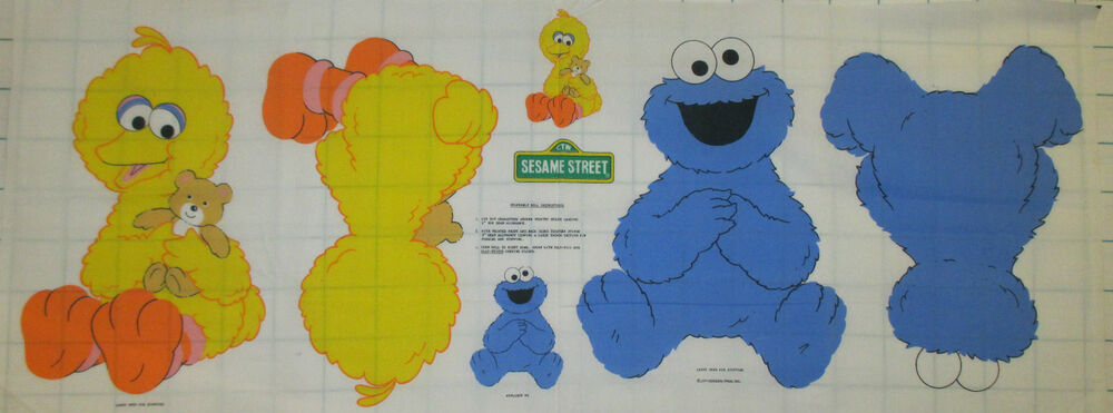 Baby cookie monster baby big bird sesame street fabric for Baby monster fabric