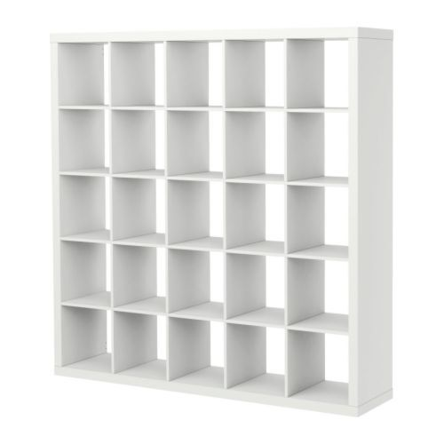ikea kallax 5 x 5 bookshelf storage shelving unit white ebay. Black Bedroom Furniture Sets. Home Design Ideas