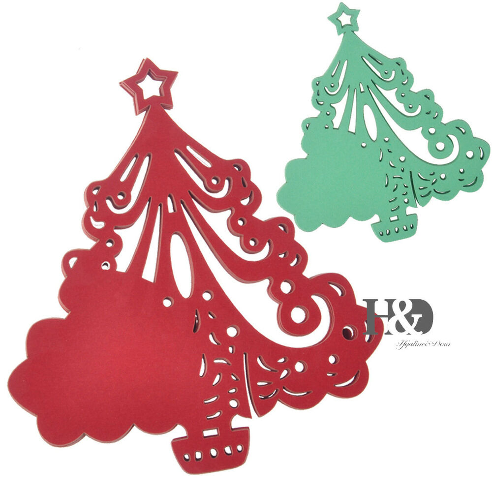 Table Place Cards Wedding Christmas Tree Shaped Name