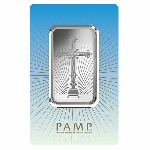 New Pamp Suisse 1 Oz Silver Bar Religious Design 999