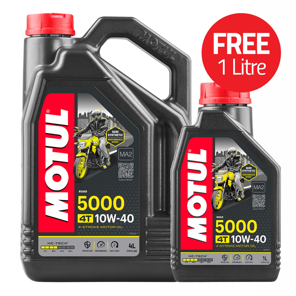 motul 5000 4t semi synthetic 4 stroke 10w40 motorcycle bike engine oil ebay. Black Bedroom Furniture Sets. Home Design Ideas