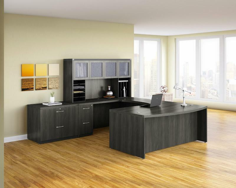 Mayline Aberdeen Gray Steel Finished U Shaped Executive