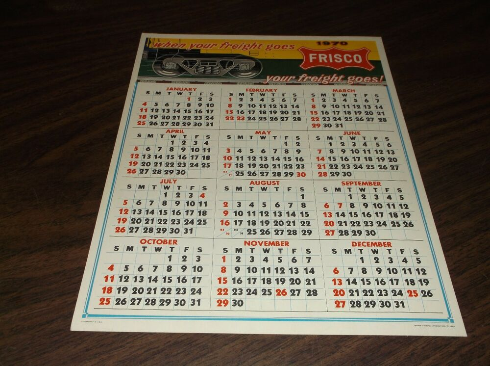 1972 LOUISVILLE & NASHVILLE L&N SMALL DESK CALENDAR