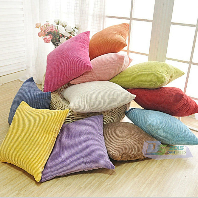 Modern Bedroom Pillows : Modern Simply Style Square Throw Pillow Case Sofa Car Cushion Cover Home Decor eBay