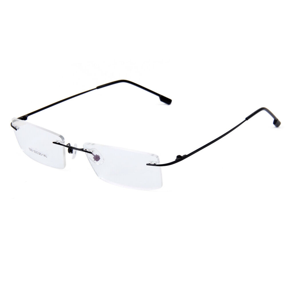 unisex clear rimless reading glasses eyeglass frame