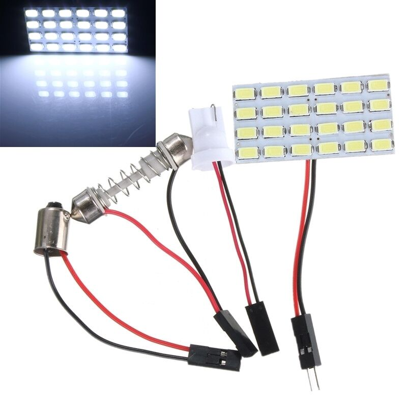 24smd 5730 led white light panel board auto interior map dome reading lamp 12v ebay. Black Bedroom Furniture Sets. Home Design Ideas