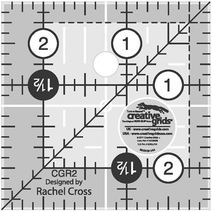 Creative Grids 2 1 2 Quot Square Ruler Sewing Amp Quilting Ruler