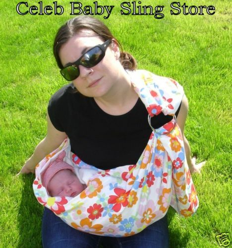 Baby sling sewing pattern 4 free rings make 2 slings ebay - Pattern for dog carrier sling ...