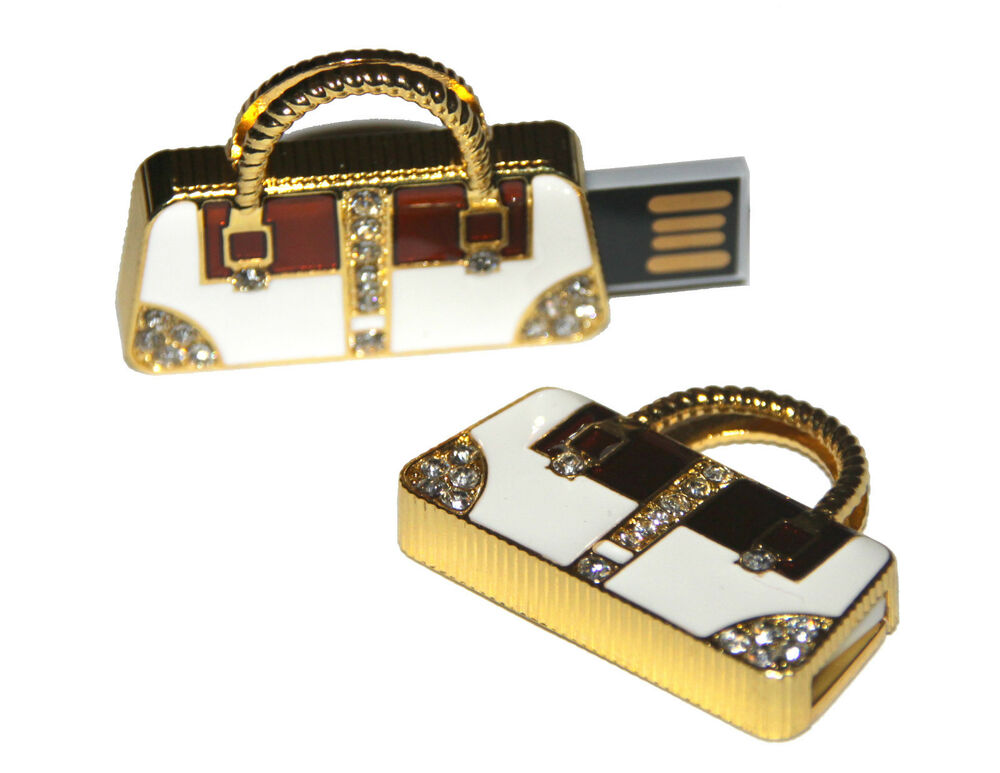 handtasche tasche gold mit steinen usb stick 64 gb speicher usb flash drive ebay. Black Bedroom Furniture Sets. Home Design Ideas
