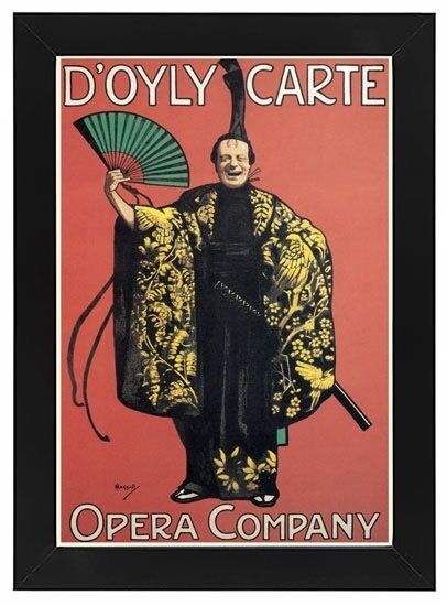 AP112 Vintage British D'oyly Carte Opera Show Advertisement Framed Poster A3/A4