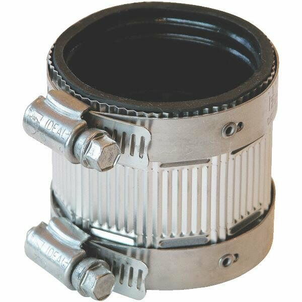 Cast Iron Couplers : Fernco rubber quot cast iron no hub pipe coupling