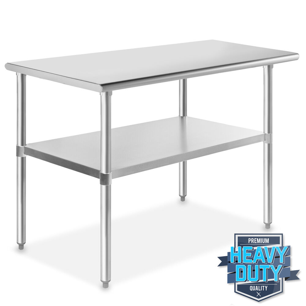 Stainless steel commercial kitchen work food prep table 24 x 48 ebay - Industrial kitchen tables ...