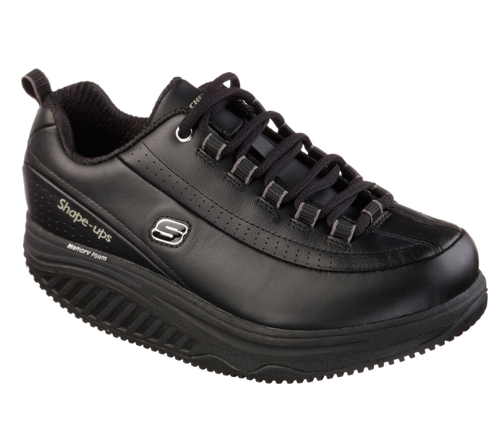 76567 Black Skechers Shoes Womenu0026#39;s Work New Shape Ups Memory Foam Slip Resistant | EBay