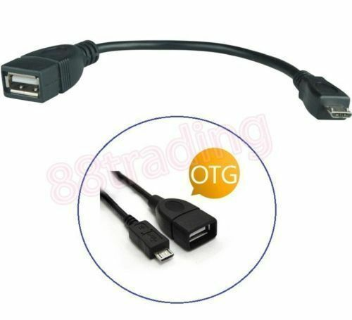 2 X Usb On The Go Otg Host Cable To Fit Micro Usb Port For
