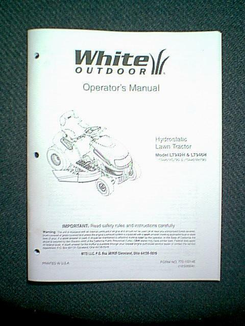 White Tractor Hydro Models Lt942h Amp Lt946h Owner S With