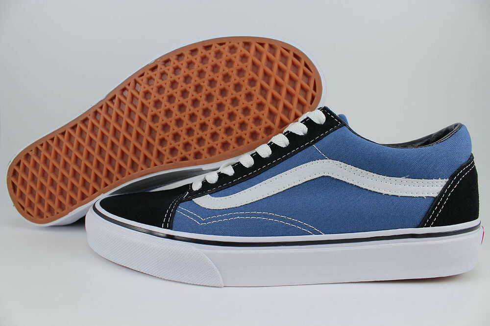 vans old skool navy blue white low suede canvas classic. Black Bedroom Furniture Sets. Home Design Ideas